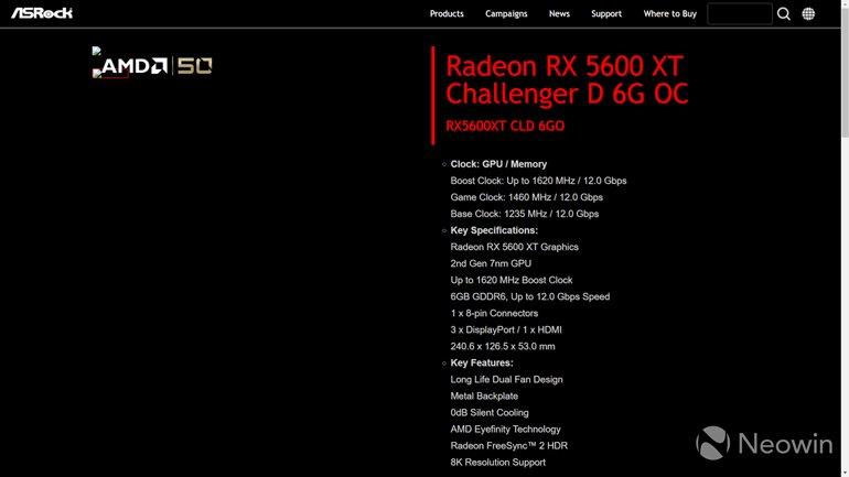 Radeon RX 5600 XT Bir Kez Daha Sızdı