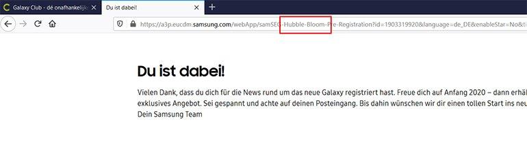 Hubble ve Bloom Kod Adları Samsung Tarafından Doğrulandı