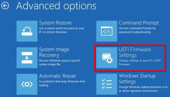 Windows 8'de UEFI BIOS'a Ulaşma