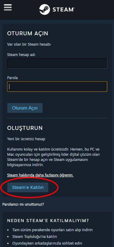 Steam'de Nasıl Hesap Oluşturulur?