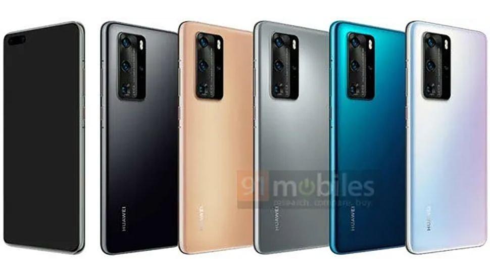 Huawei P40'in Tasarımı ve Renkleri Sızdı