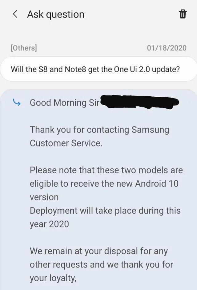 Samsung, Galaxy S8 ve Note 8 için Yine Ümitlendirdi