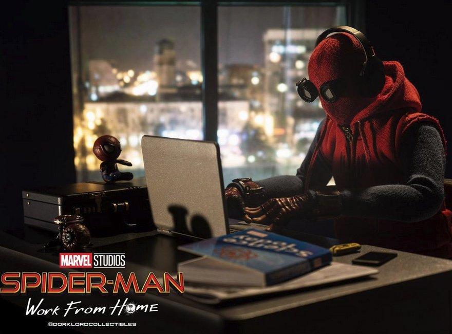 Spider-Man (Örümcek Adam), Corona'ya Karşı Bir Süre Evden Çalışacak