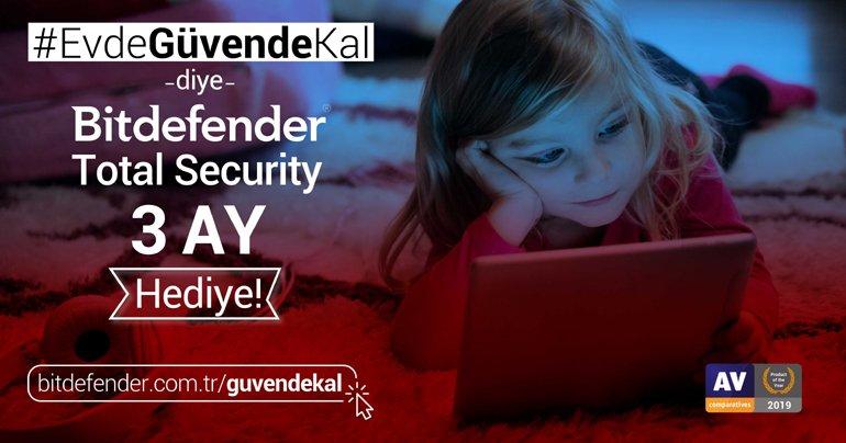 #EvdeGüvendeKal Diye Yılın Güvenlik Ürünü 3 Ay Ücretsiz