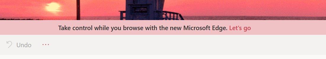 Microsoft Outlook'un İçinden, Microsoft Edge Çıktı