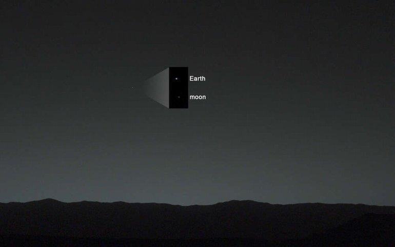 Dünya, Mars'tan Nasıl Görünüyor? Bu Fotoğraf, Cevabı Veriyor