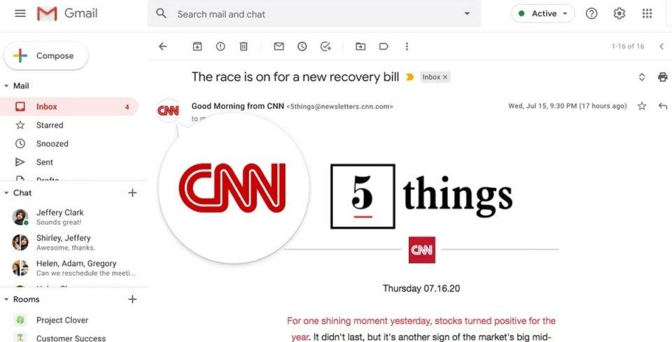 """Google, Gmail'de """"Logo Dönemini"""" Başlatıyor"""