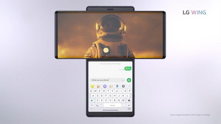 LG'nin, Sıra Dışı Bir Tasarıma Sahip Telefonu Wing Resmi Olarak Tanıtıldı