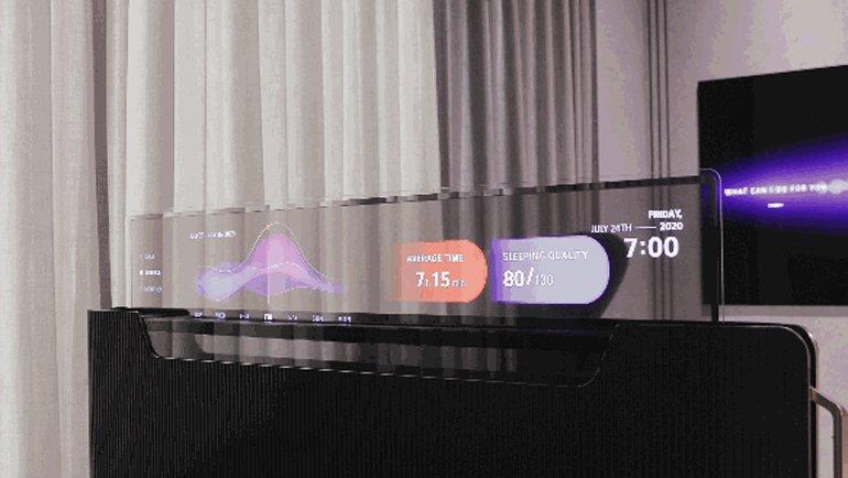 LG, Yatağımızla Entegre Olabilen, Şeffaf Bir TV Geliştiriyor