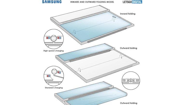 Samsung'un Dev Ekranlı, Hem İçe Hem de Dışa Katlanabilir Cihazı Göründü