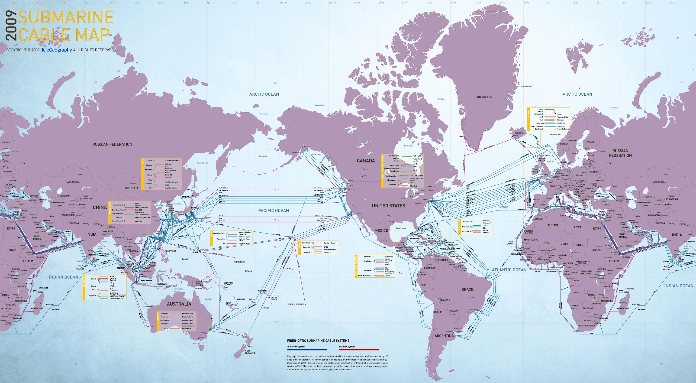Dünya İnternet Hatları Haritası